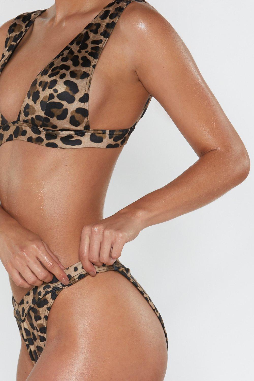 37e4cbb0dc4e4 Nasty Gal Wild At Heart High-leg Leopard Bottoms in Brown - Lyst