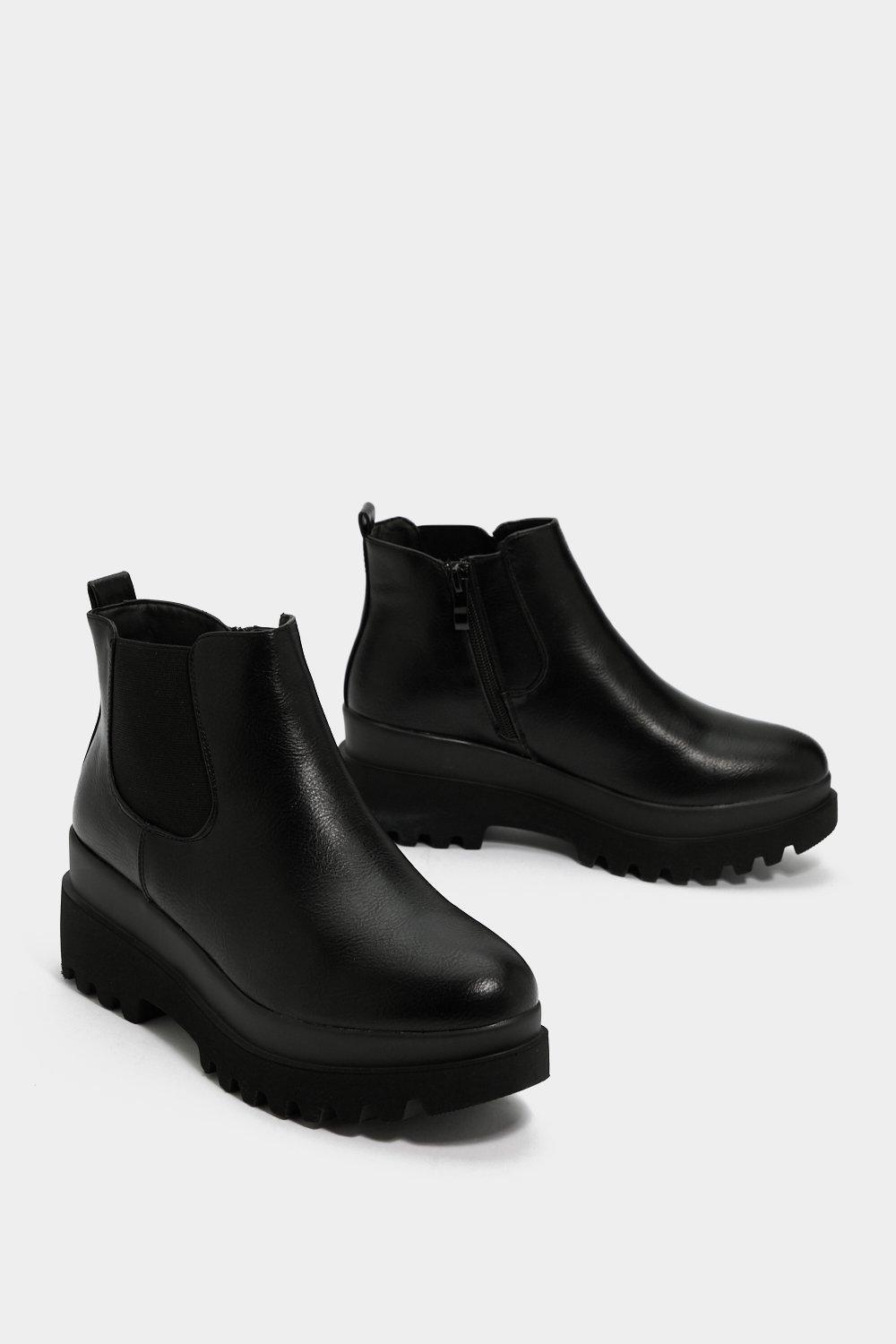 """Nasty Gal Synthetic """"get Your Kicks Chelsea Boot"""" in Black"""