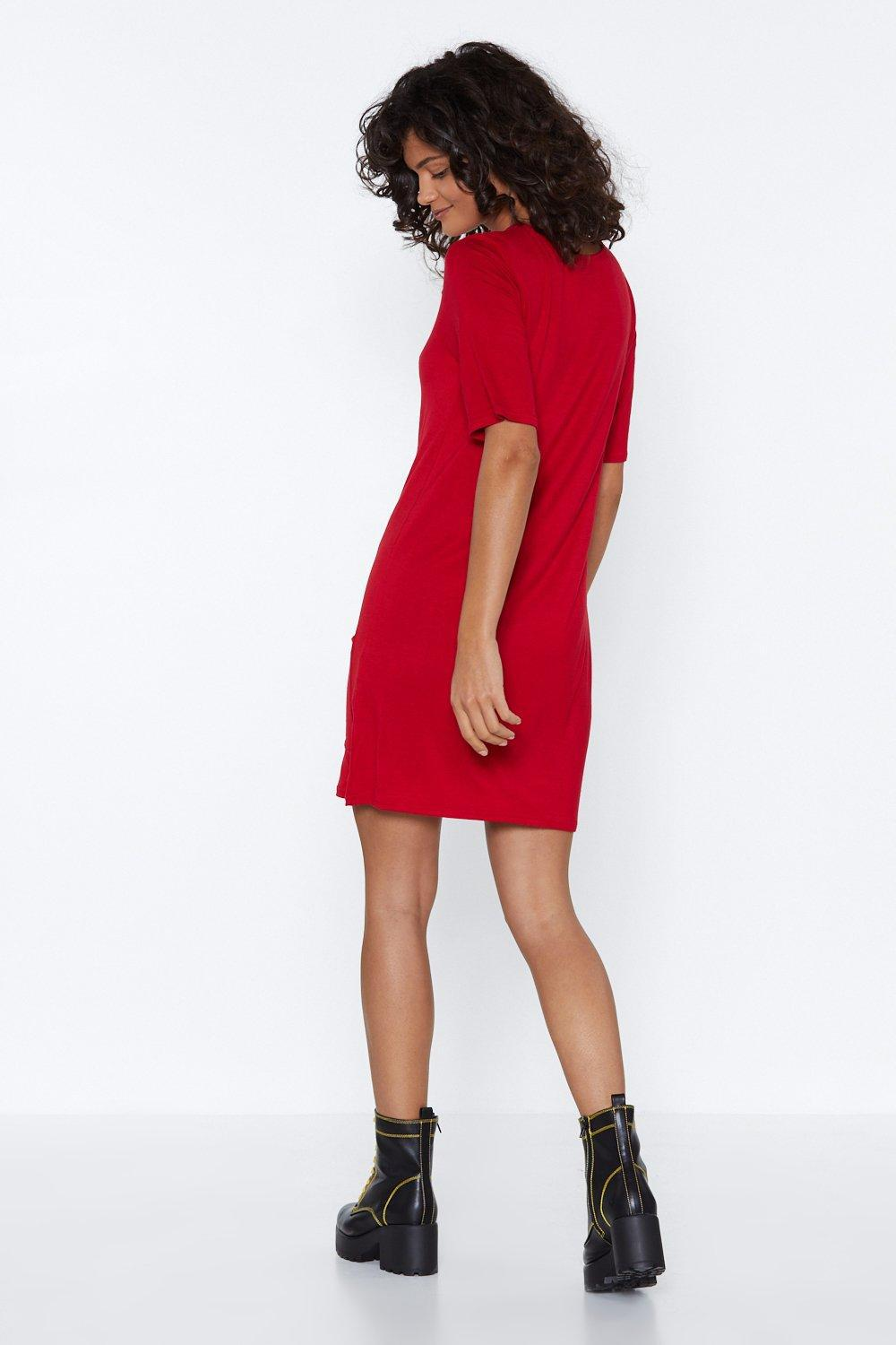 28a5aef9e416a Nasty Gal - Red Keep It Between You And Tee Dress - Lyst. View fullscreen