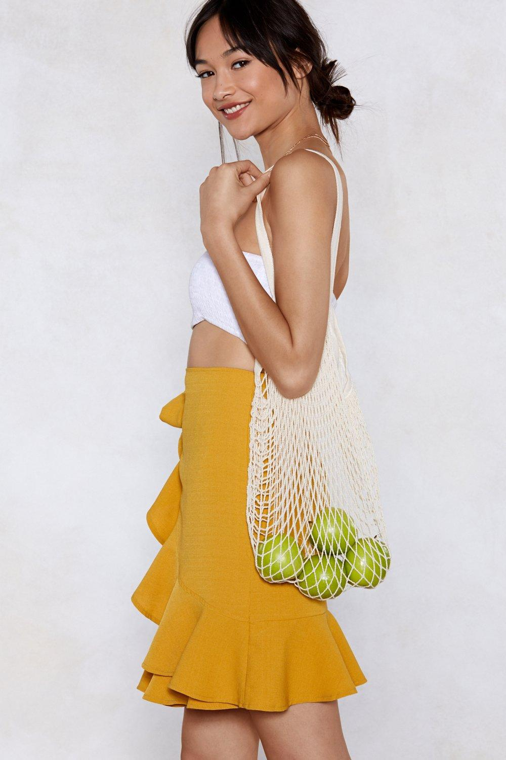 Nasty Gal Cotton Want Catch Of The Day Net Tote Bag