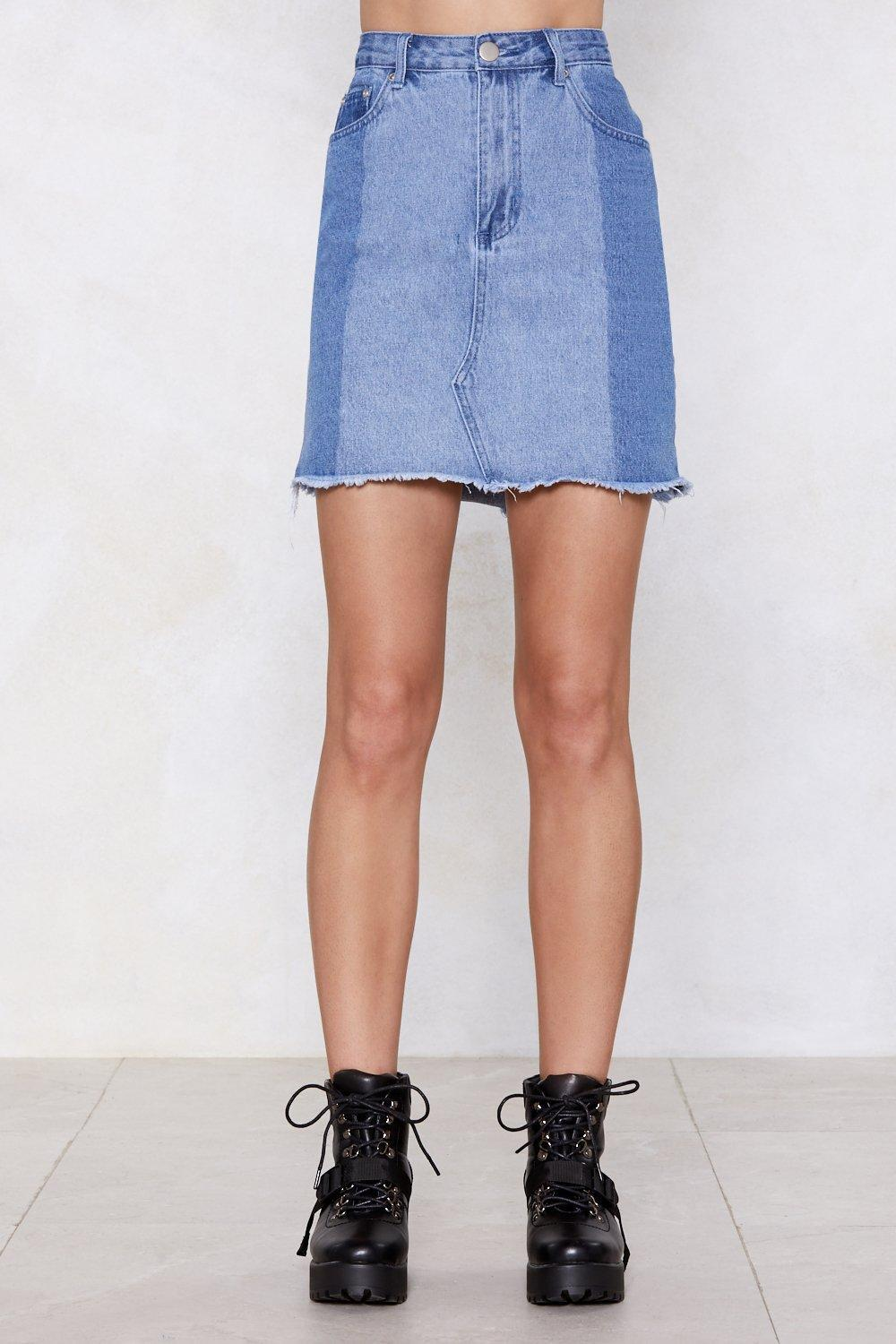 """Nasty Gal """"the Perfect Patch Denim Skirt"""" in Blue"""