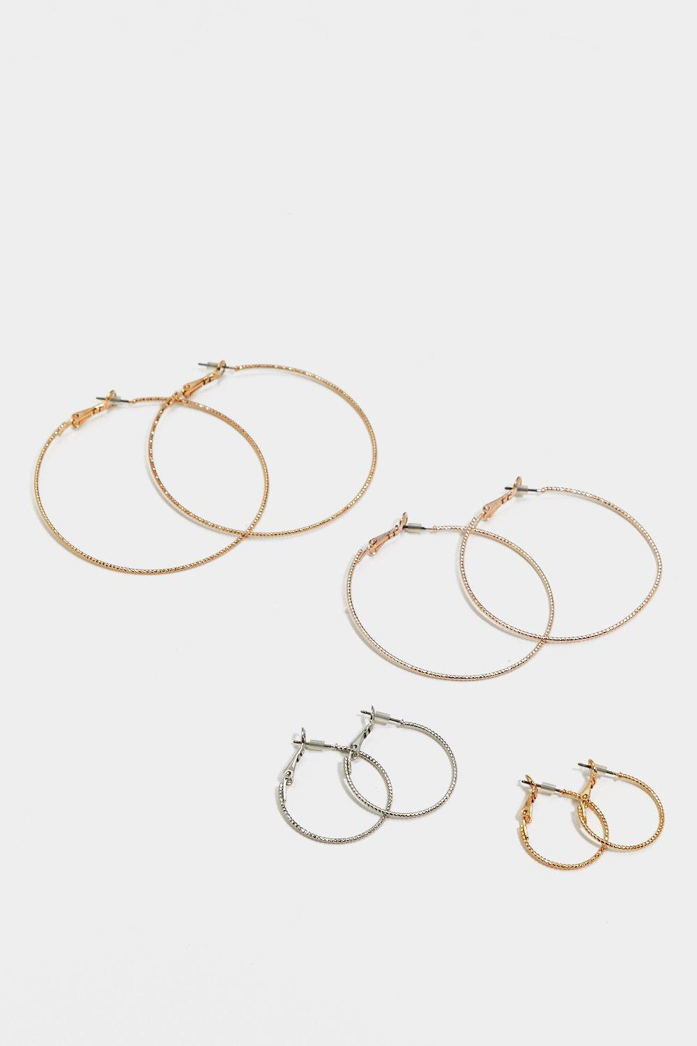 Nasty Gal Synthetic Round Of Music Hoop 4-pc Set in Gold (Metallic)