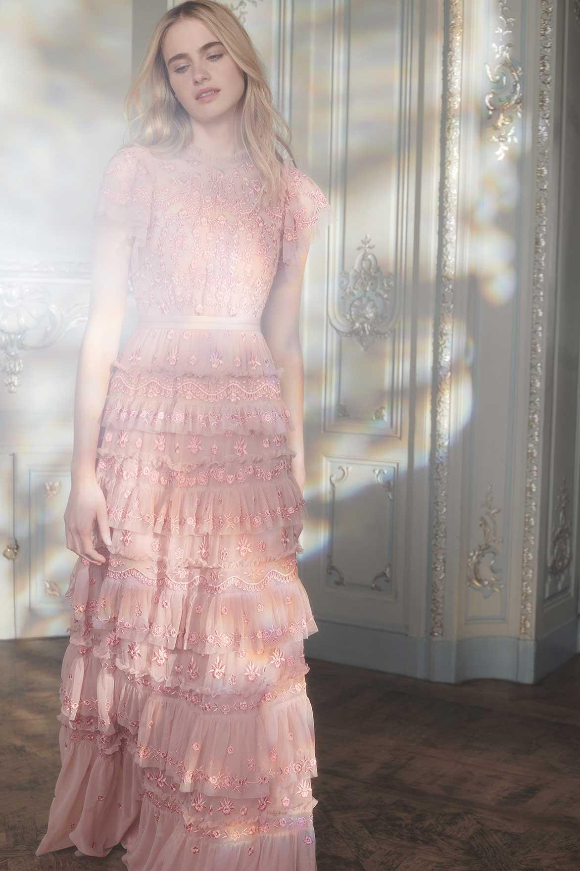 Needle & Thread Pink Darcy Gown