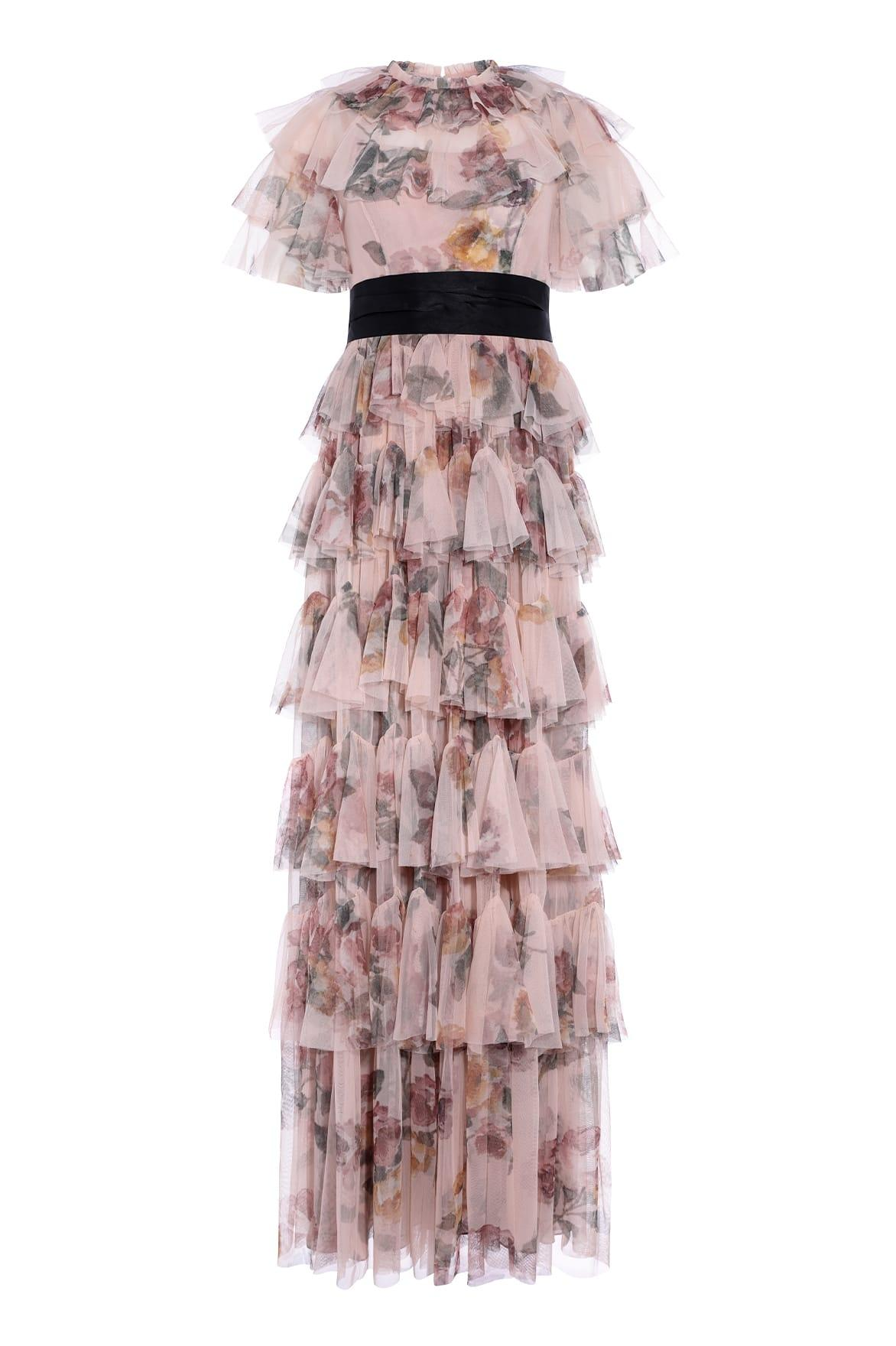 cf2cc5e92c Needle & Thread Venetian Rose Tulle Gown in Pink - Lyst