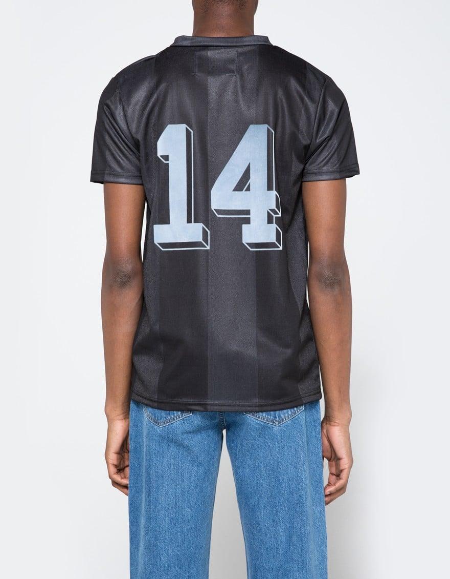 Lyst Han Kjobenhavn Poly Football Shirt Black In Black