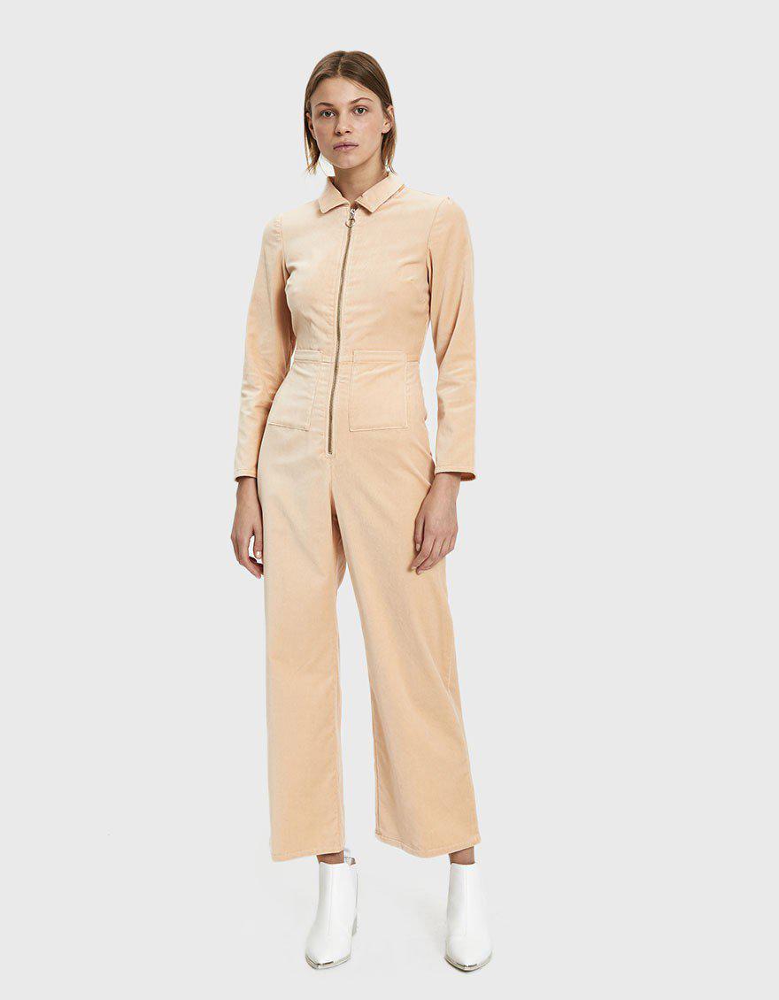 9aff36c2147 Paloma Wool Paufi Velvet Jumpsuit in Natural - Lyst