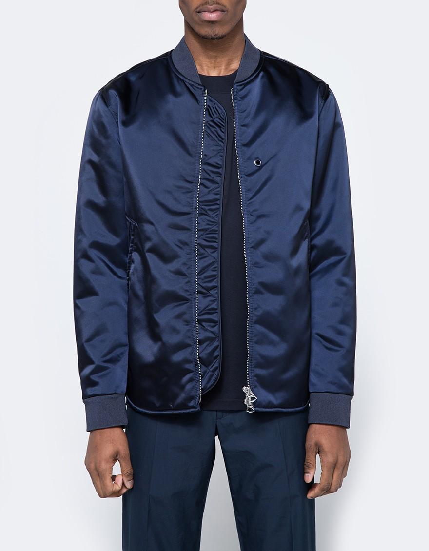 efcc2f185 Acne Blue Mylon Jacket In Navy for men