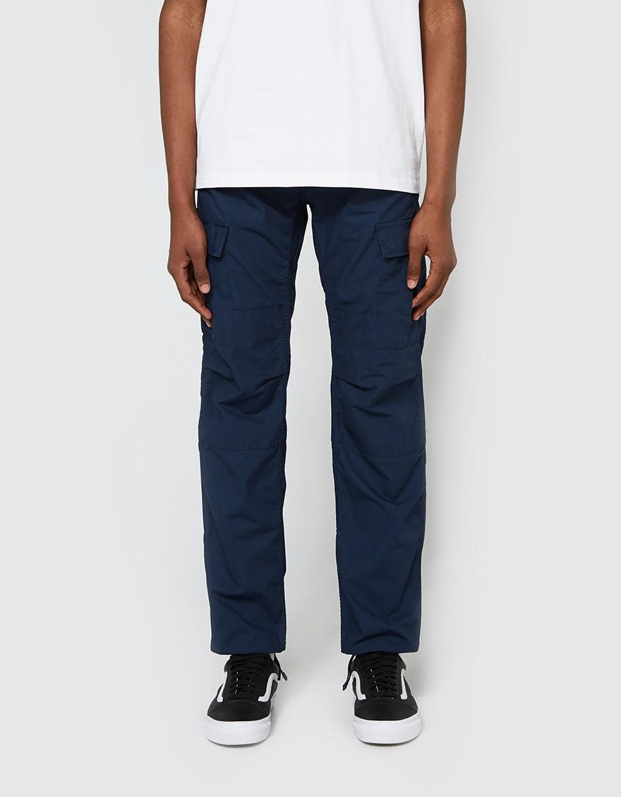 carhartt wip aviation pant in navy in blue for men lyst. Black Bedroom Furniture Sets. Home Design Ideas