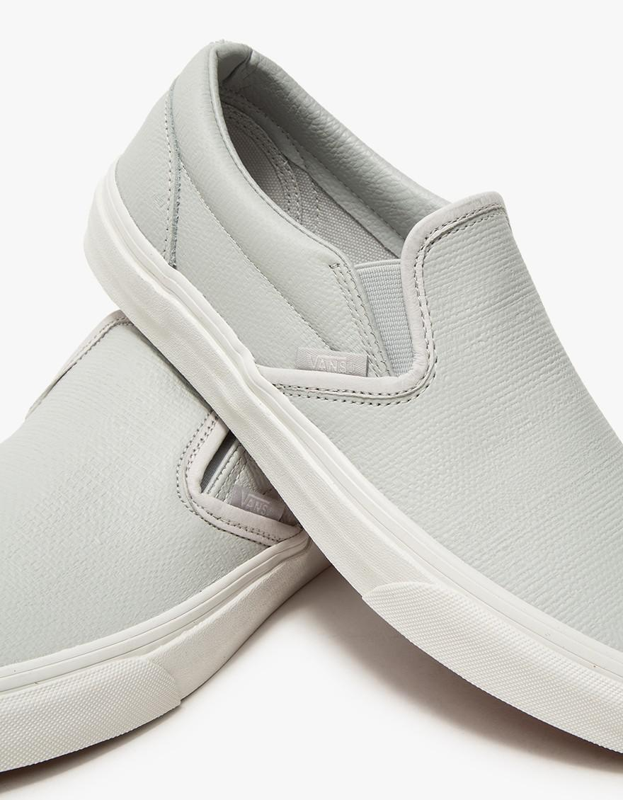 0b67ad696d2 Lyst - Vans Classic Slip-on In Embossed Glacier Grey in Gray for Men