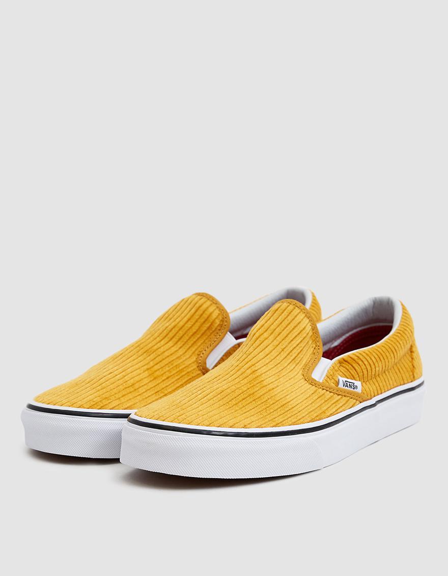 806d8fa7c1de56 Lyst - Vans Corduroy Slip-on Design Assembly Sneaker in Yellow