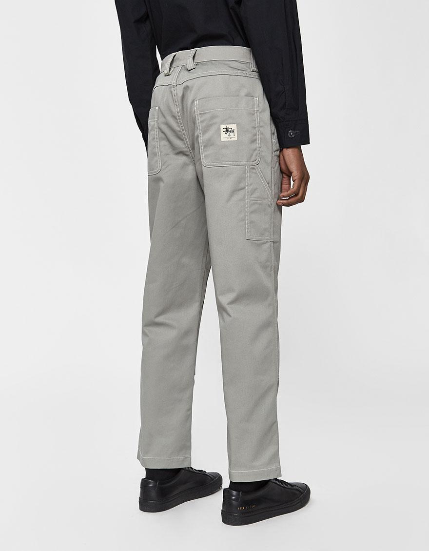 c07c27b5c1 Stussy - Gray Twill Work Pant for Men - Lyst. View fullscreen