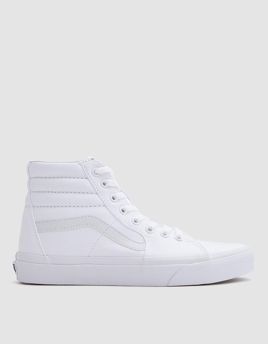 Lyst - Vans Sk8 Hi In True White in White for Men 74c310848