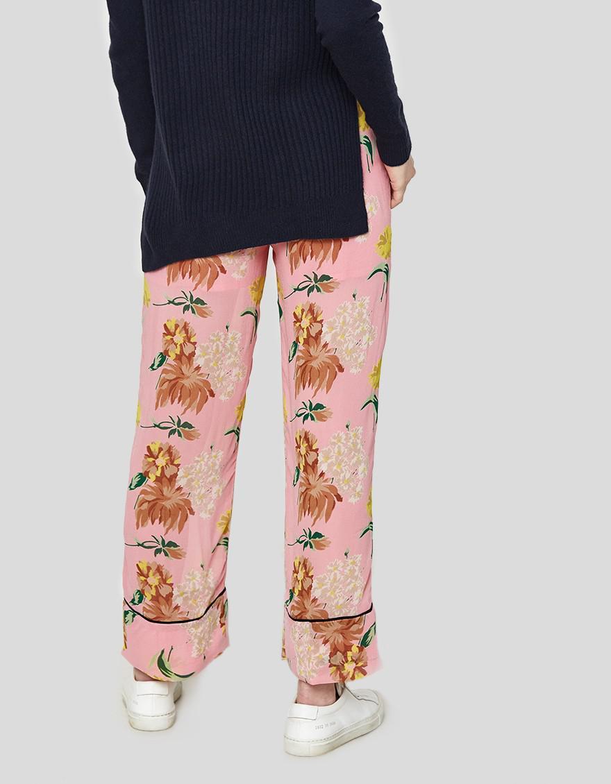 73f0cfecc210 Lyst - Ganni Marceau Georgette Pants In Sea Pink in Pink