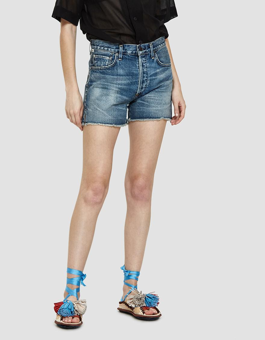 9dfda9afed Citizens of Humanity Nikki High Rise Denim Shorts in Blue - Lyst