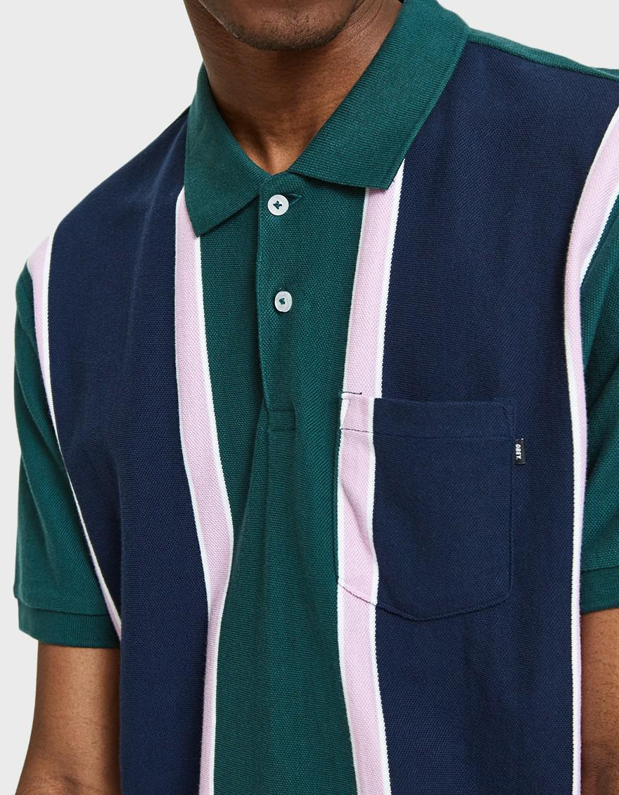 39e1c5afd Obey Watermark Polo in Green for Men - Lyst