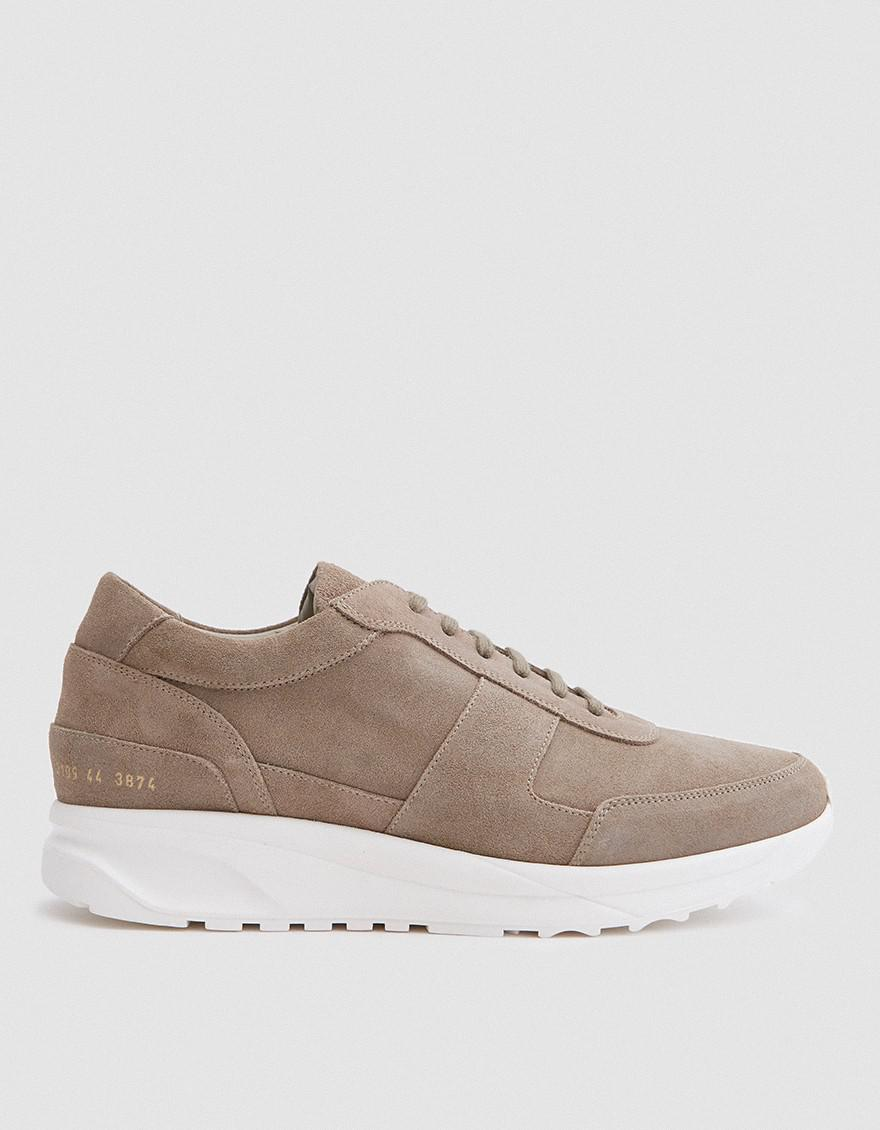 COMMON PROJECTS Waxed Suede Track Sneakers lgFIIDTgUS