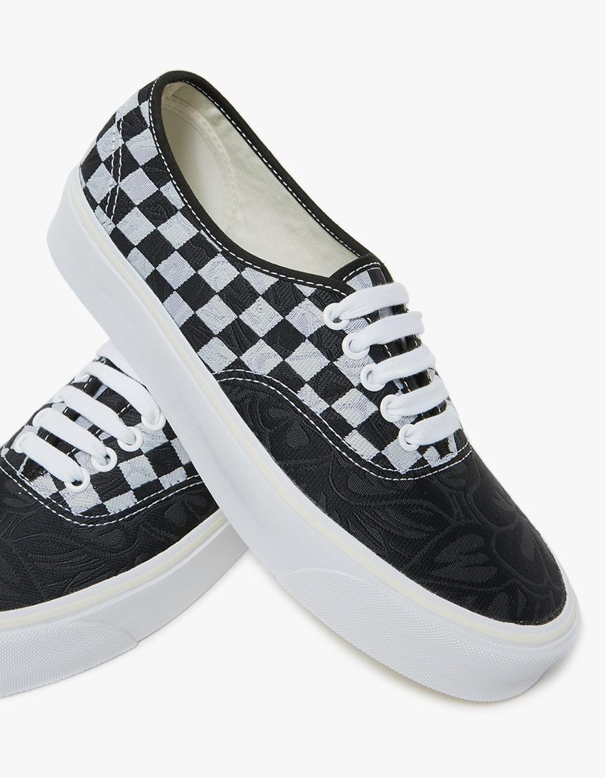 8133a97d3f Lyst - Vans Authentic Jacquard Lx In Jungle Check Black white in Black