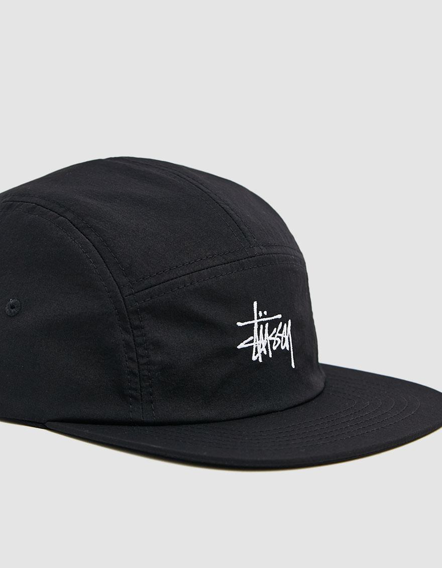 f9107e988c2 Lyst - Stussy Basic Stock Camp Cap in Black for Men - Save 39%