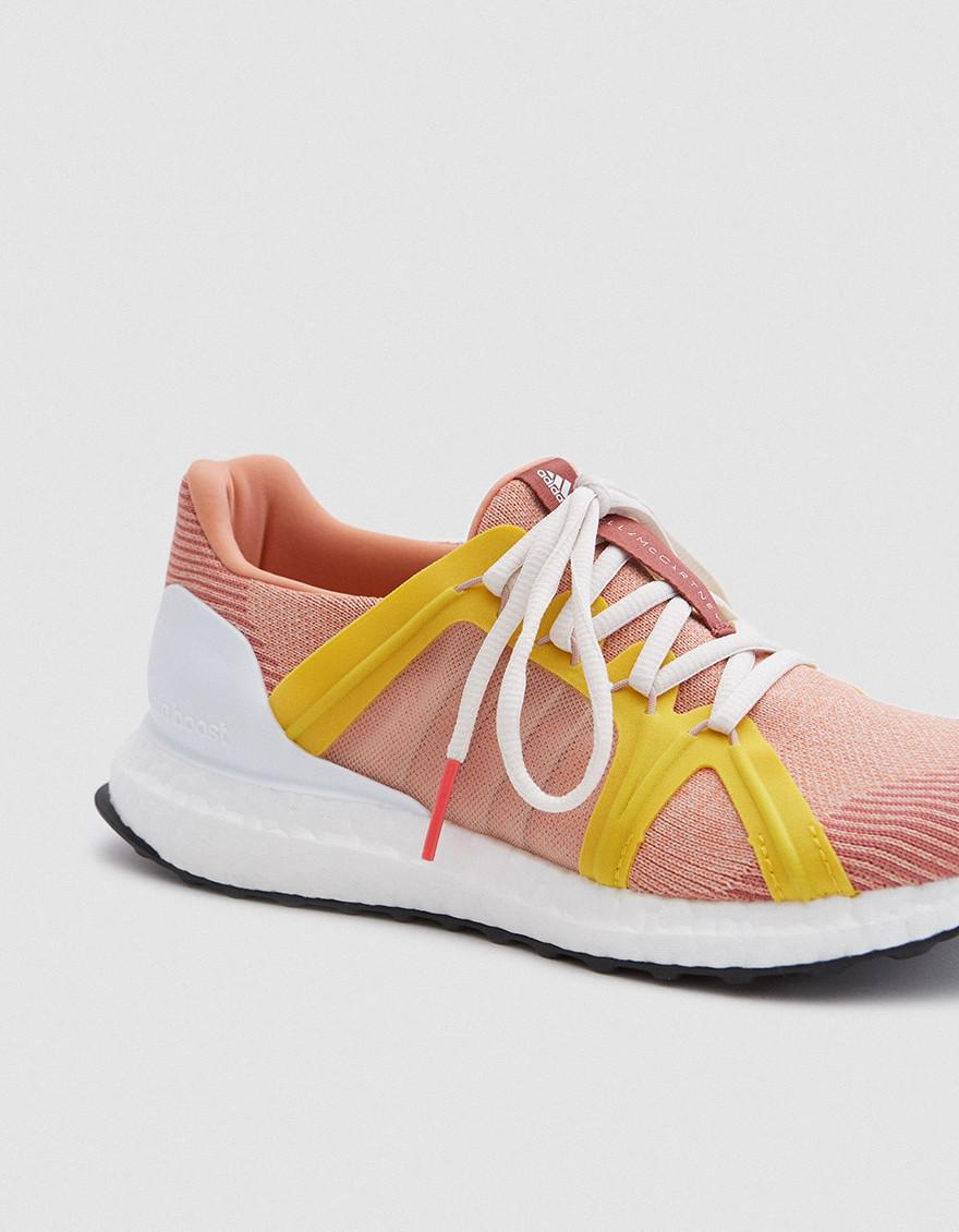 04435af7f7a63 Lyst - adidas By Stella McCartney Ultra Boost Sneaker In Apricot ...