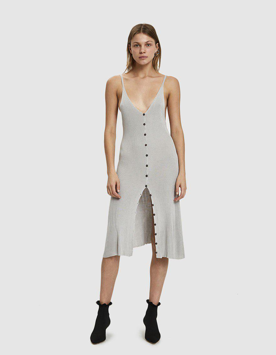 812bf84863d Baserange Oder Silk Knit Dress in Gray - Lyst