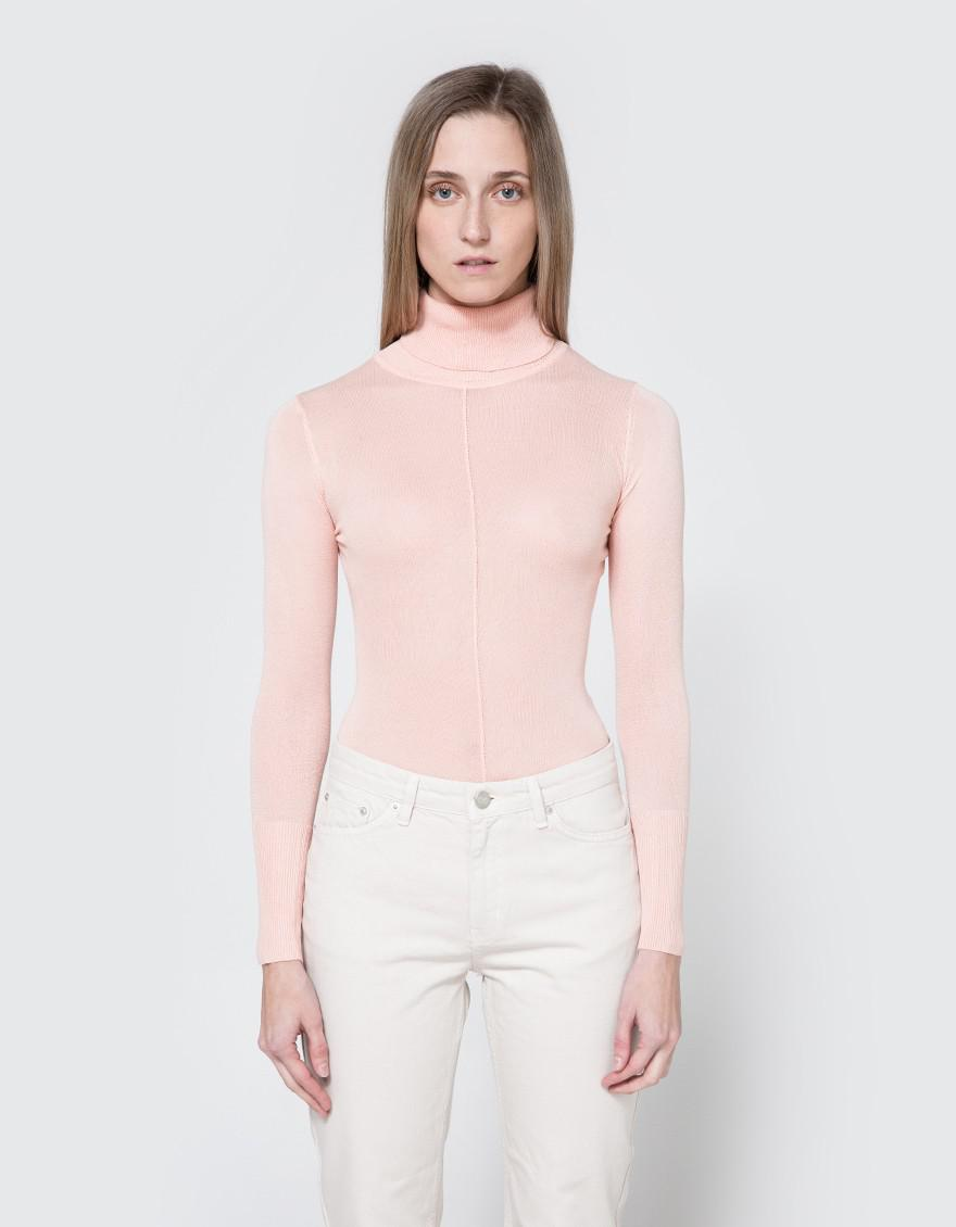4ad42571f564f Which We Want Sheer Turtleneck In Blush in Pink - Lyst
