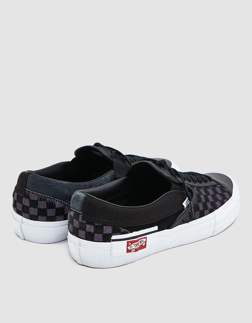 f3237713727a Vans - Black Slip-on Cap Lx Pony Sneaker for Men - Lyst. View fullscreen