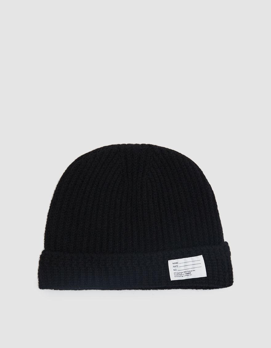 9d3d2f253b2 Visvim - Black Ribbed Knit Beanie for Men - Lyst. View fullscreen