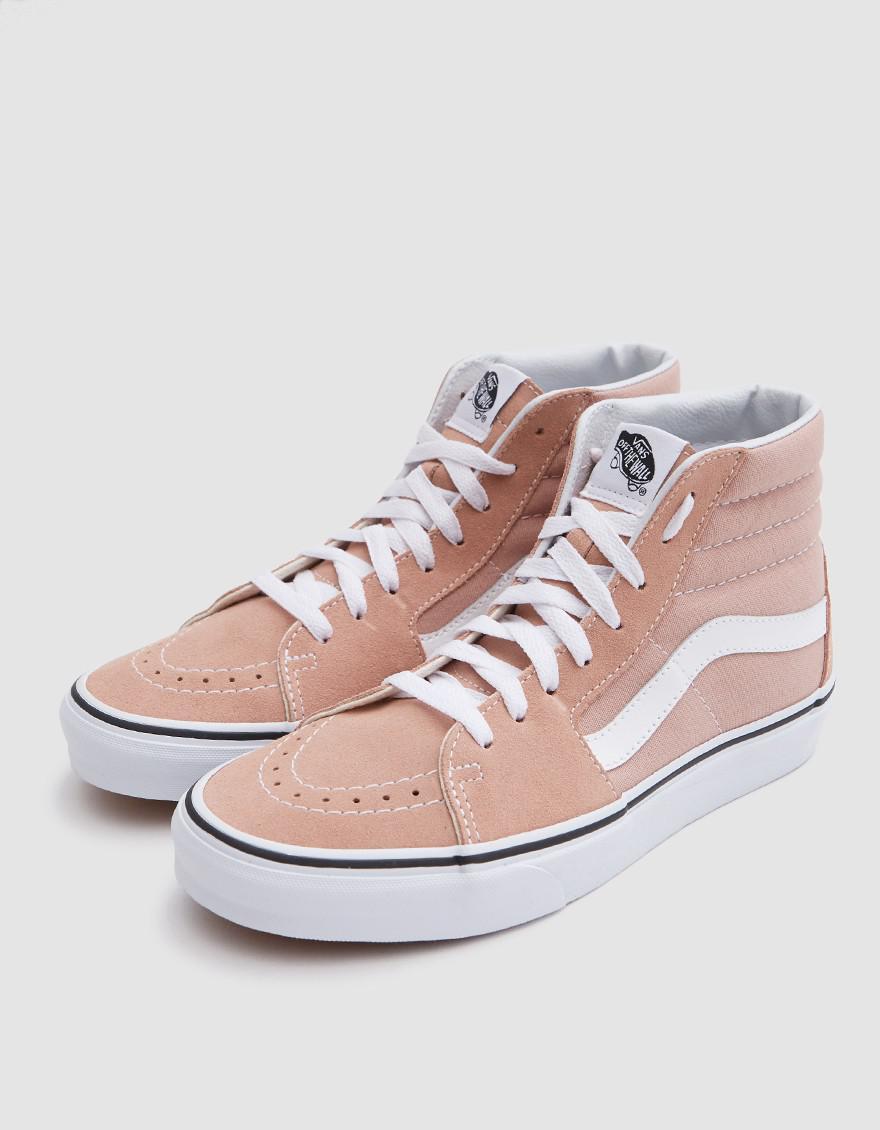 8af17031a887 Vans Sk8 Hi In Mahogany Rose true White in Pink - Lyst
