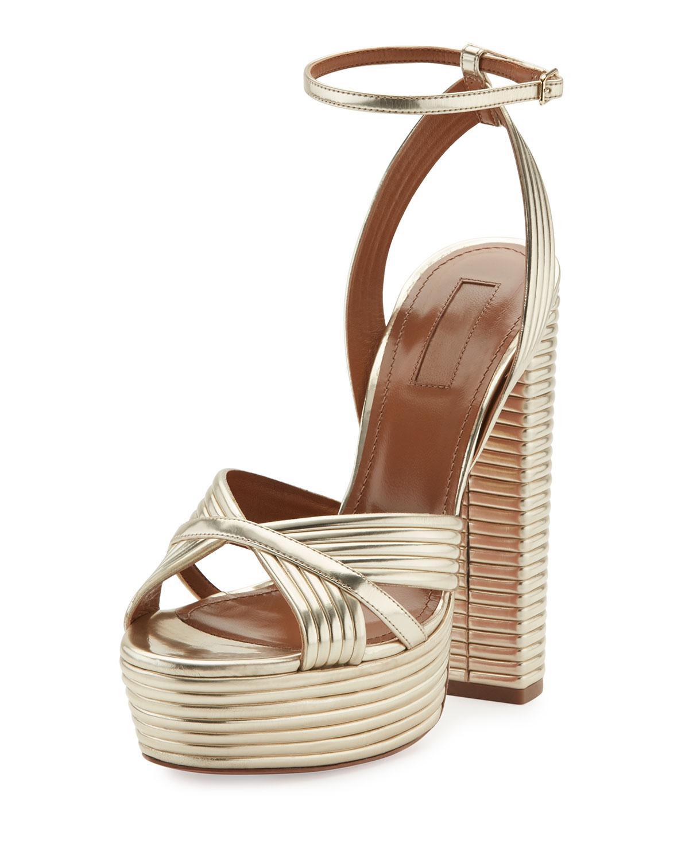 Aquazzura platform strappy sandals discount ebay 3j4kbPTC