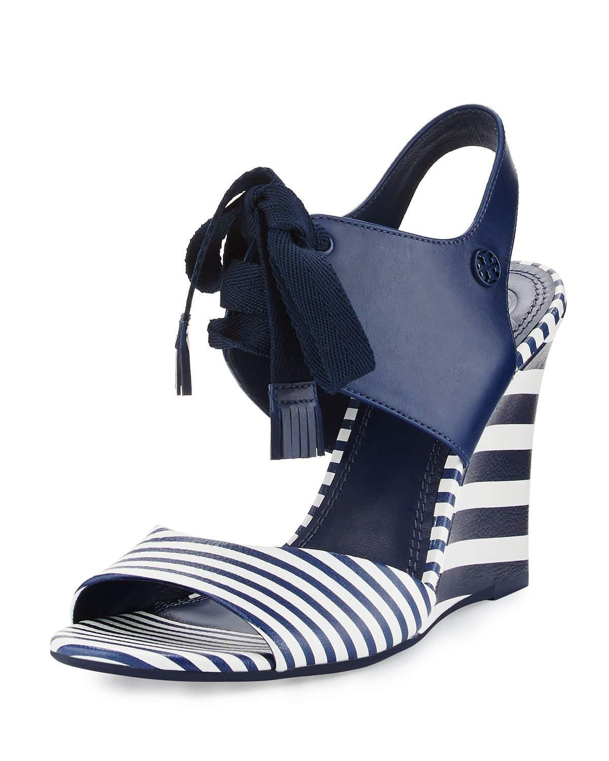 Tory Burch Leather Maritime Striped