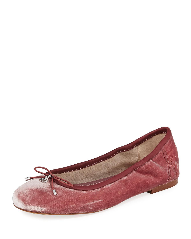Sam Edelman Felicia Velvet Bow Detail Flats abahd4w4