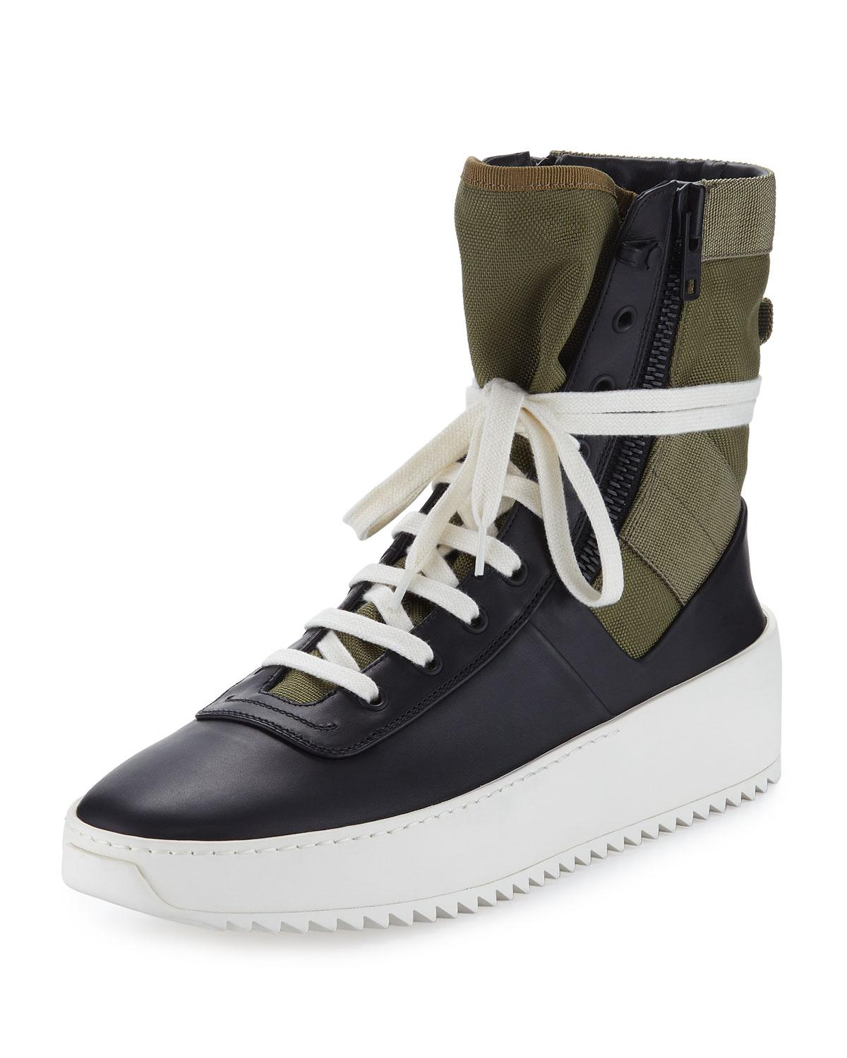 Fear of God Jungle Nubuck and Canvas High-Top Sneakers buy cheap official outlet free shipping deals online OIx7Nv0eQ