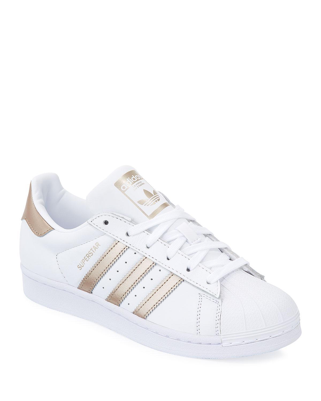 adidas rose gold superstar stripe