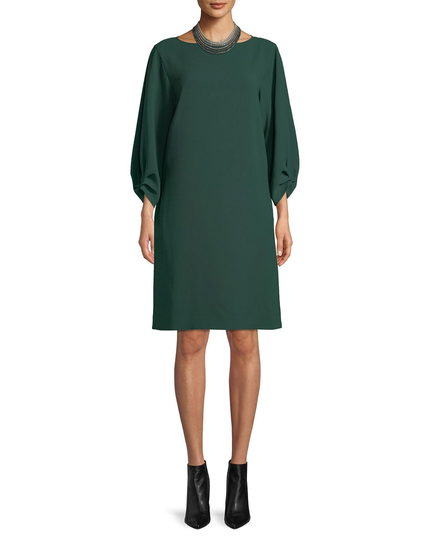 9732679dae1 Lyst - Lafayette 148 New York Wynona Dress In Finesse Crepe in Green
