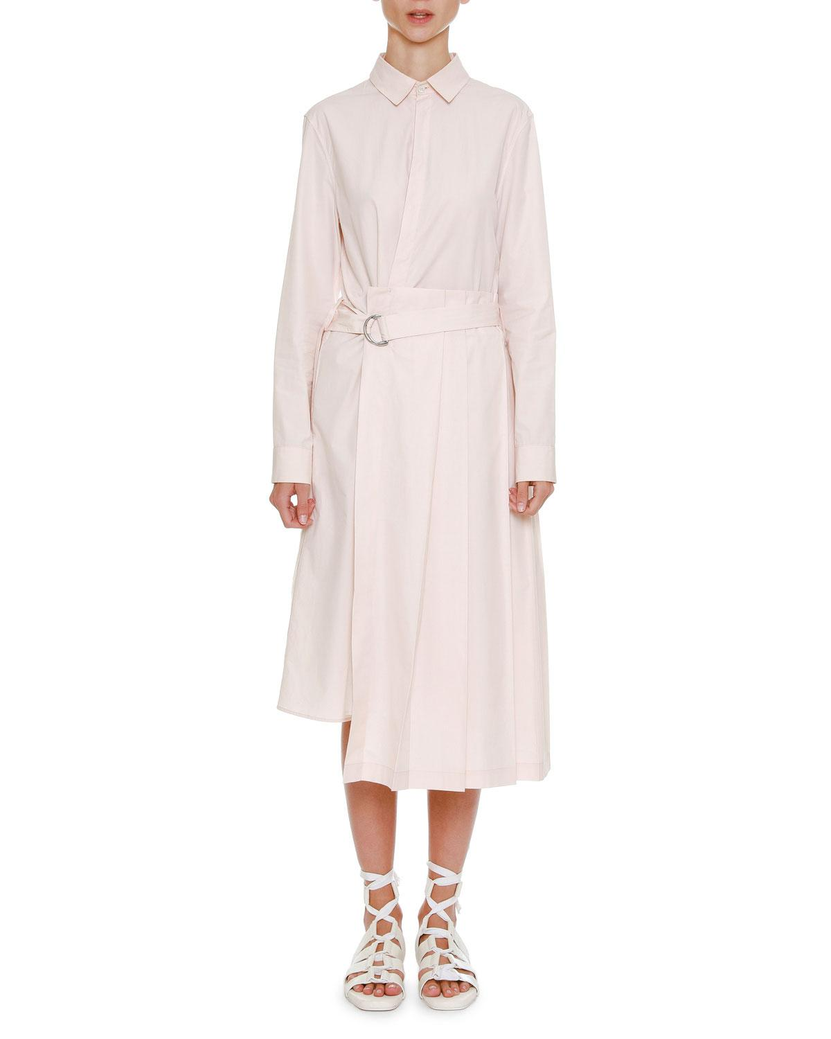 Sale Very Cheap Layered Panel Shirt Dress Jil Sander Cheap Sale Visit OZdqGpKn