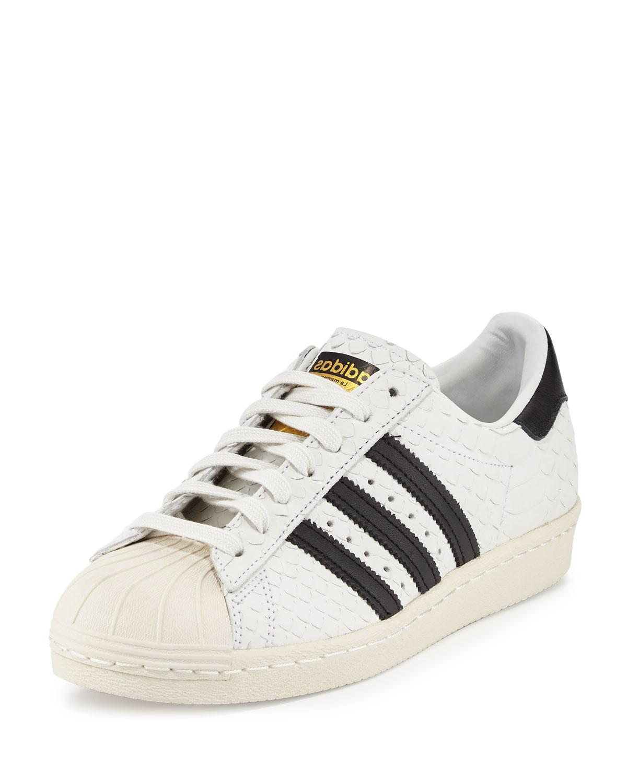 buy popular 0e717 8823b Adidas   White Superstar  u002780s Classic Snake-cut Sneaker   Lyst. View  Fullscreen