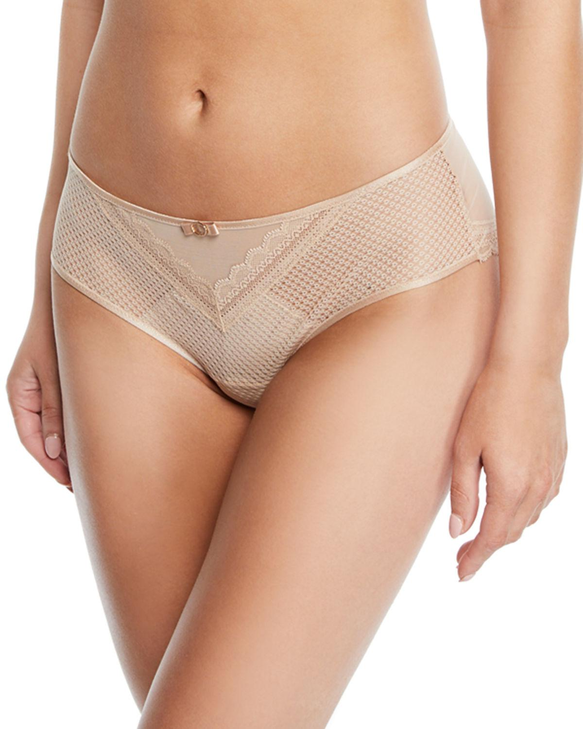 6c5389e0101 Lyst - Chantelle Parisian Lace Hipster Briefs in Natural