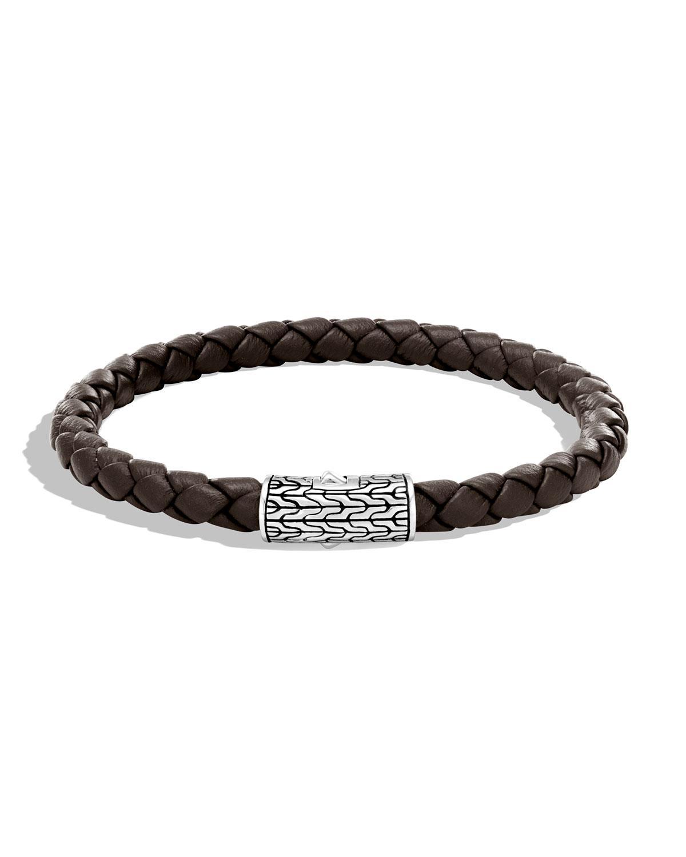 John Hardy Mens Classic Chain Woven Bracelet, Brown