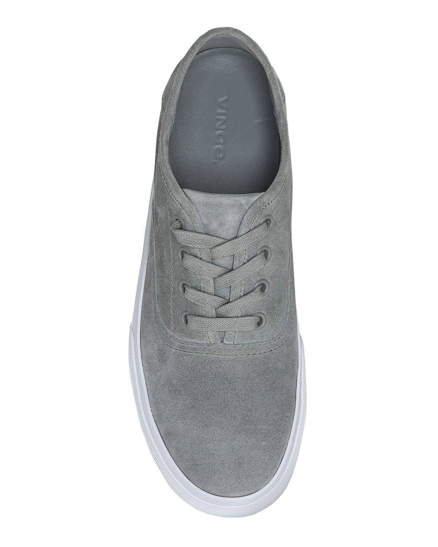 5b80500ed9e Lyst - Vince Copley Suede Platform Low-top Sneaker in Gray for Men