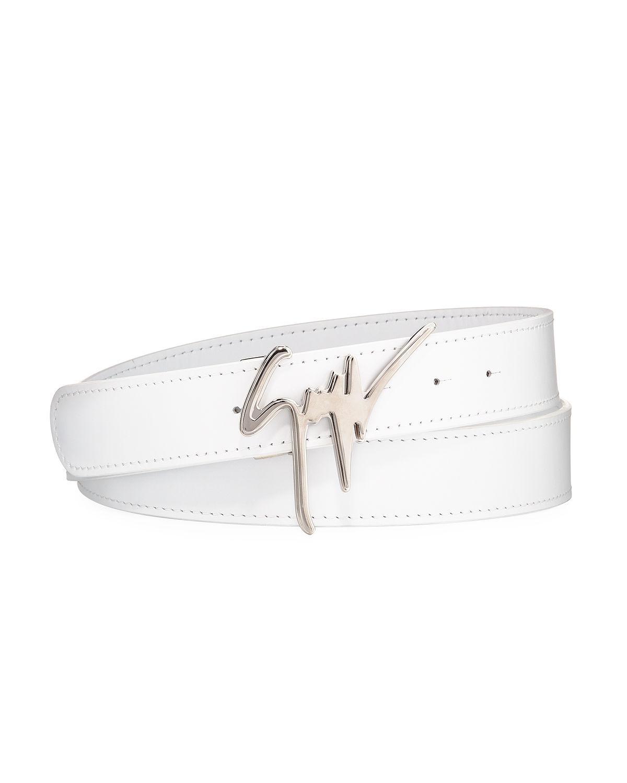 Signature Leather Logo Belt