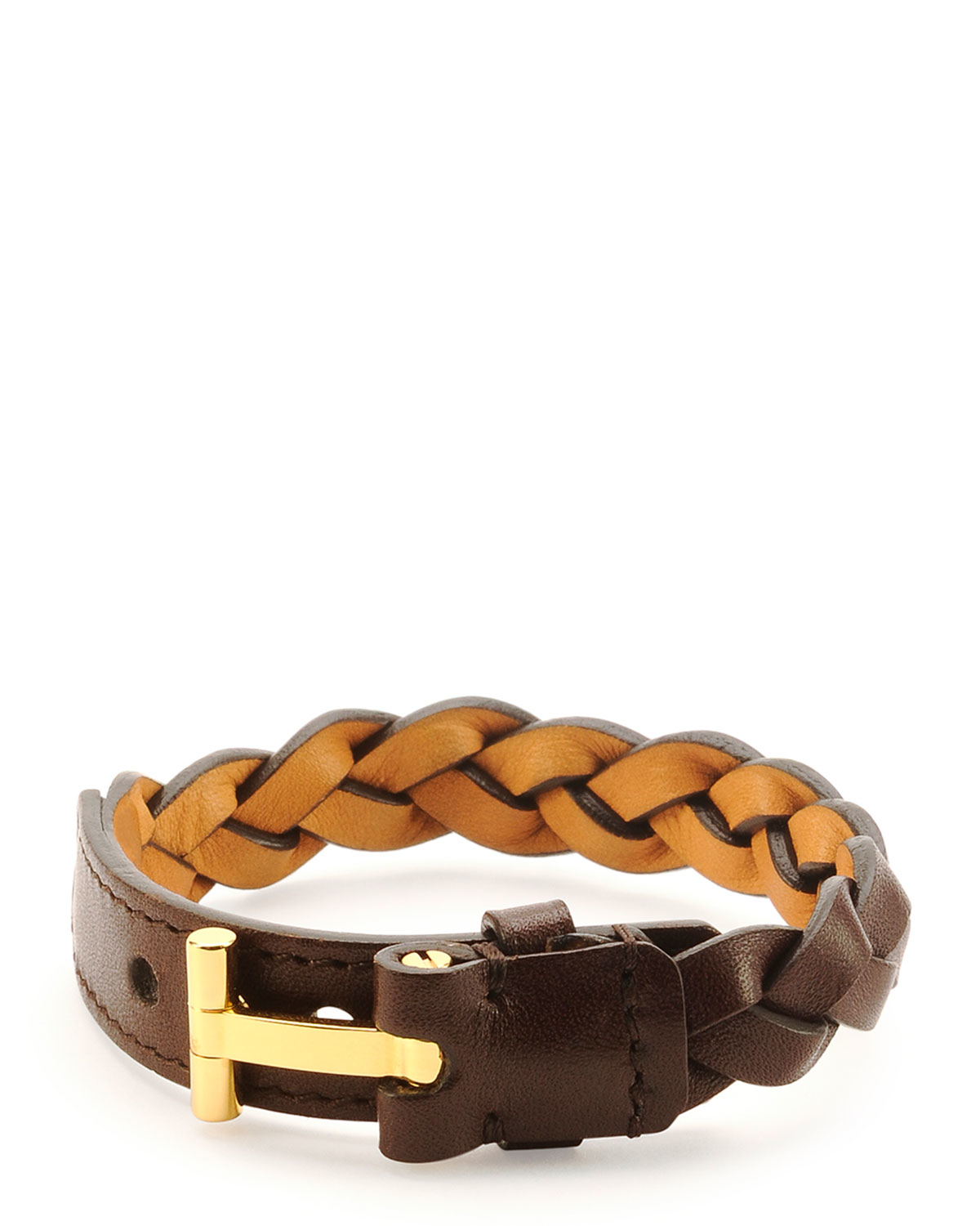 tom ford nashville s braided leather bracelet in brown
