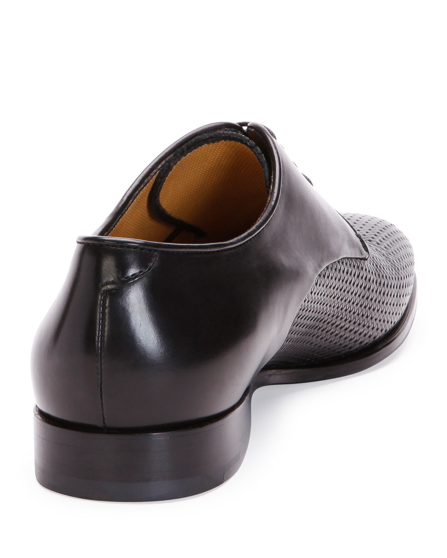 Lyst - Giorgio armani Woven Leather Dress Shoe for Men