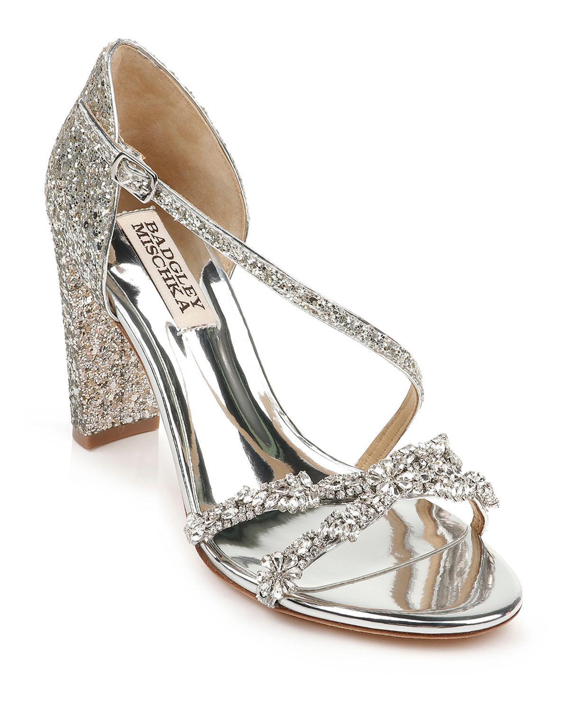 sparkle sandal heels