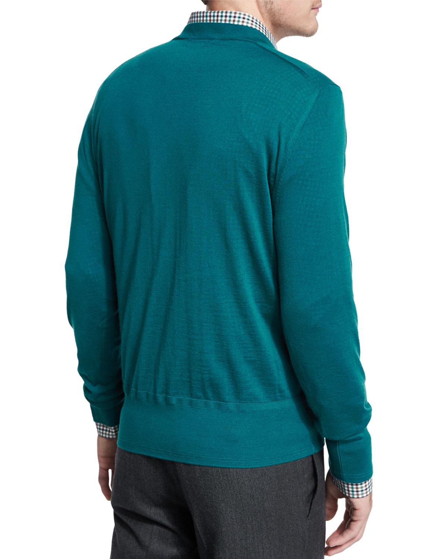 tom ford lightweight cashmere v neck sweater in blue for. Black Bedroom Furniture Sets. Home Design Ideas