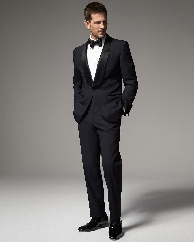 lyst tom ford o 39 connor base shawl collar tuxedo in black. Black Bedroom Furniture Sets. Home Design Ideas