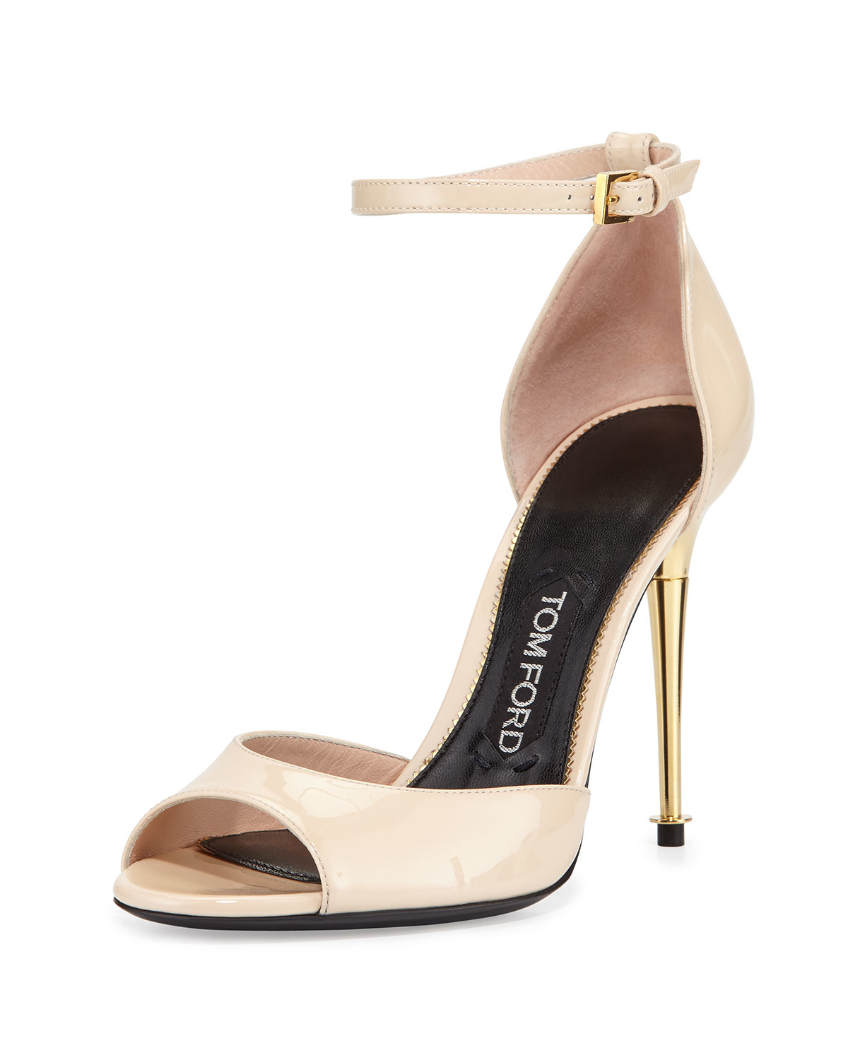 7e6f50383d2 Lyst - Tom Ford Patent-Leather D orsay Sandals in Natural