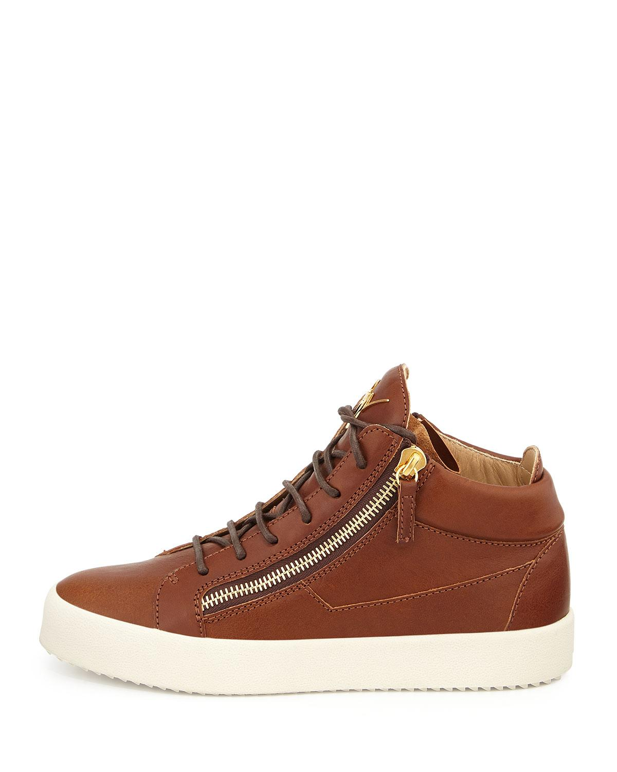 1017 Best Mid Century Architecture A Go Go Images On: Giuseppe Zanotti Men's Leather Mid-top Sneaker In Red For