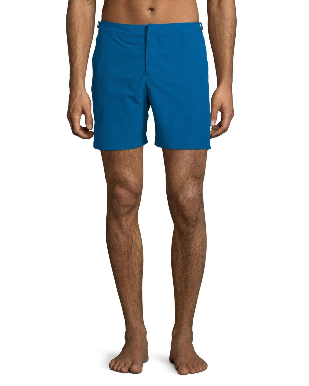 Orlebar brown Bulldog Solid Swim Trunks in Blue for Men