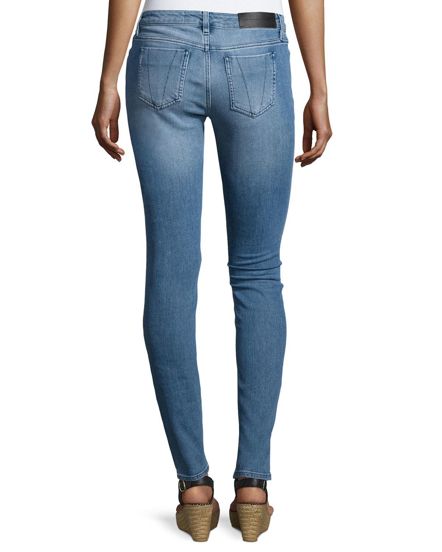 victoria victoria beckham super skinny ankle jeans in blue lyst. Black Bedroom Furniture Sets. Home Design Ideas
