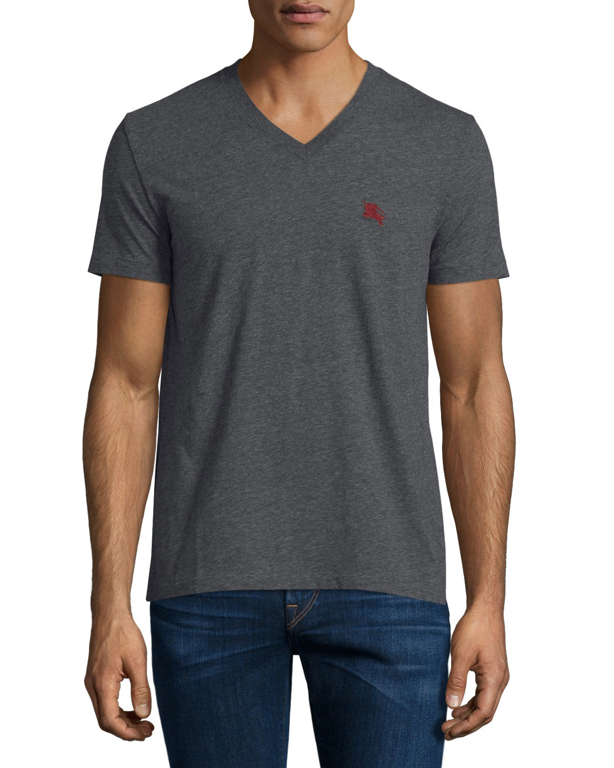 Burberry brit Short-sleeve Jersey T-shirt in Gray for Men ...